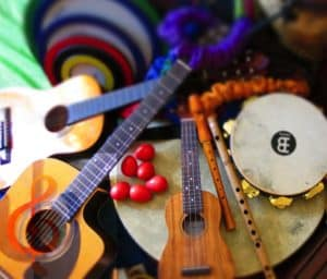 Guitar and other musical instruments at Safe Place Therapy Melbourne